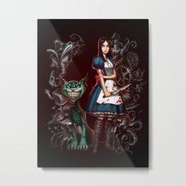 Alice's Madness Metal Print
