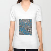 sagan V-neck T-shirts featuring - cosmos_04 - by Magdalla Del Fresto