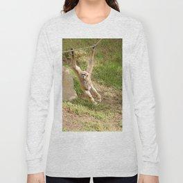 White Handed Gibbon Long Sleeve T-shirt