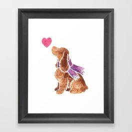 Watercolour English Cocker Spaniel Framed Art Print