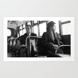 African American Portrait - If Rosa Parks Rode a Bus Today? Art Print