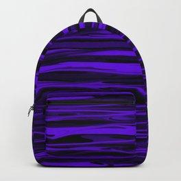 Blue Violet Abstract Stripes Backpack