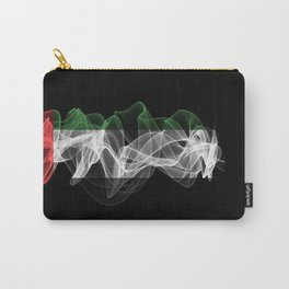 UAE Smoke Flag on Black Background, UAE flag Carry-All Pouch