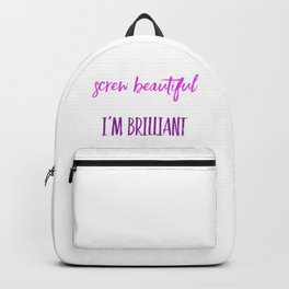 Screw beautiful Backpack