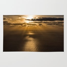 Sunrise over the Atlantic ocean Rug