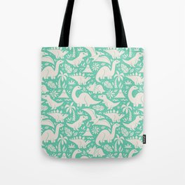 Delightful Dinos (teal) Tote Bag