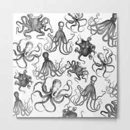 Octopus Kraken Everywhere Metal Print