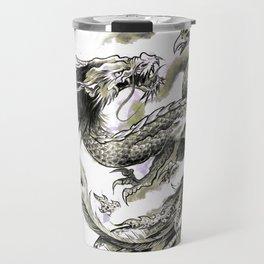 Dragon Phoenix Tattoo Art Print Travel Mug