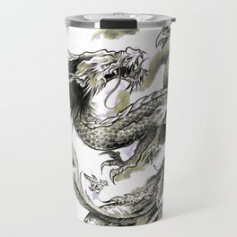 Dragon Phoenix Tattoo Art Print Travel Mug