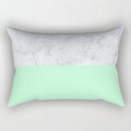Mint Marble Rectangular Pillow