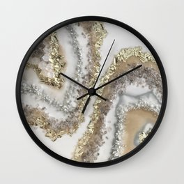 Geode Resin Painting Wall Clock