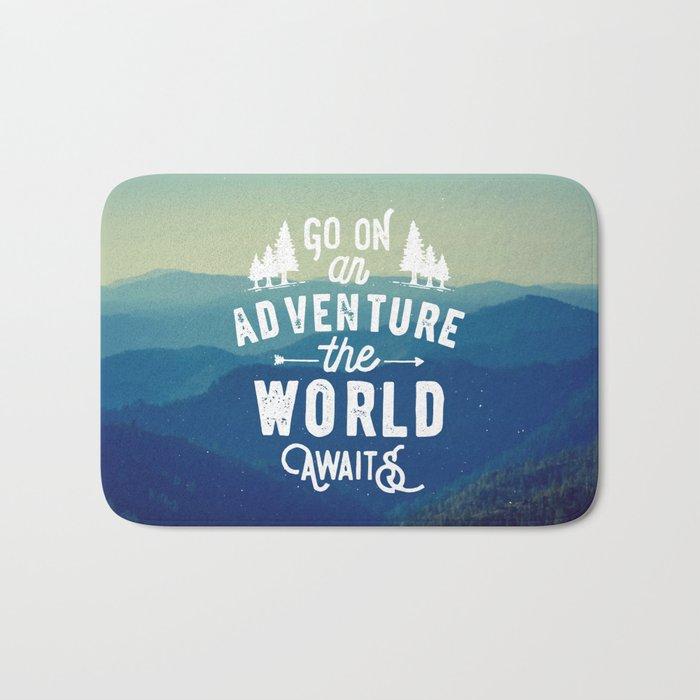 Adventure Quote Bath Mat