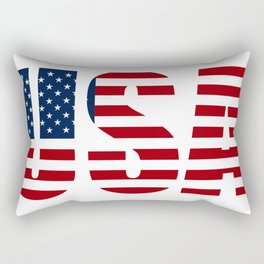 Usa Flag Rectangular Pillow
