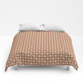 Cavern Clay SW 7701 and Accent Colors Large and Small Polka Dots on Ligonier Tan SW 7717 Comforters