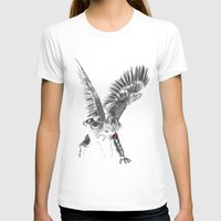 winter soldier T-shirts featuring winged winter soldier by Zee Mendoza