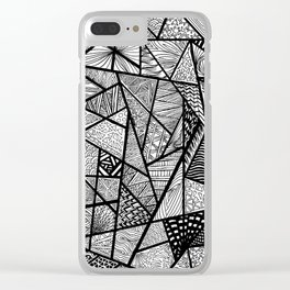 Random Shapes Clear iPhone Case