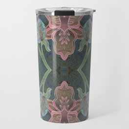 Elegant Detailed Orchid Meditation Pattern Travel Mug