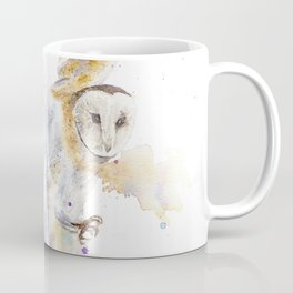 "Watercolor Painting of Picture ""White Owl"" Coffee Mug"