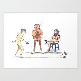 Bocce balls Art Print
