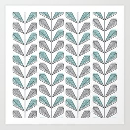 Collection Leaves Art Print
