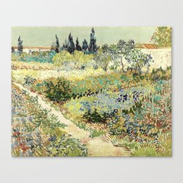 Vincent Van Gogh : Garden at Arles Canvas Print