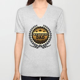Certified Dad Since 2018 - Father's Day Unisex V-Neck