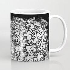 Misspent Youth Watercolor Doodle Mug