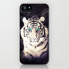 White Tiger - for iphone Slim Case iPhone (5, 5s)