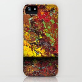 Abstract Distressed #1 iPhone Case