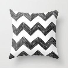 Classic Chevrons in Black Throw Pillow