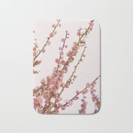 pink skies and apricots Bath Mat
