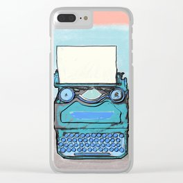 Writer's Muse -Typewriter Clear iPhone Case
