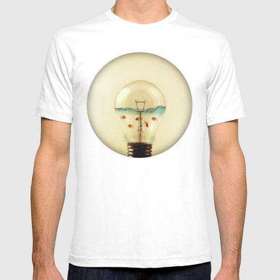 gold fish globe T-shirt
