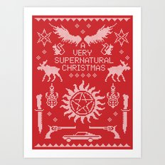 A Very SPN Christmas Art Print