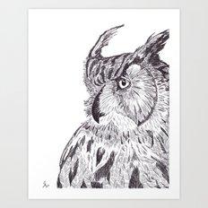 Horned Owl Art Print