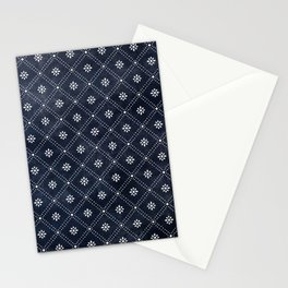 Blue Indigo Pattern Stationery Cards
