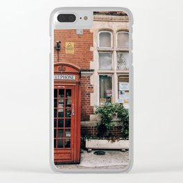 London phone booth Clear iPhone Case