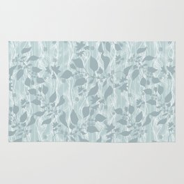 Pale blue Beautiful grass. Rug