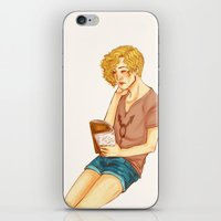 reading iPhone & iPod Skins featuring Reading by deadpokerface