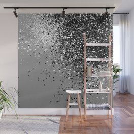 Sparkling Silver Gray Lady Glitter #1 #shiny #decor #art #society6 Wall Mural