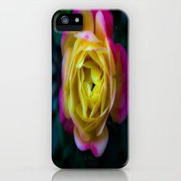 Foggy Rainbow Rose iPhone Case