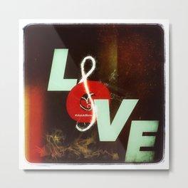 #LoveMusic - #iAmAHero Metal Print