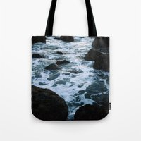 salt water Tote Bags featuring Salt Water Study II by Teal Thomsen Photography