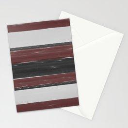 Maroon Stripe Stationery Cards