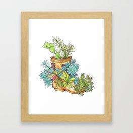 Nature boot Framed Art Print