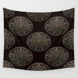 Maroon Mandala Pattern Wall Tapestry