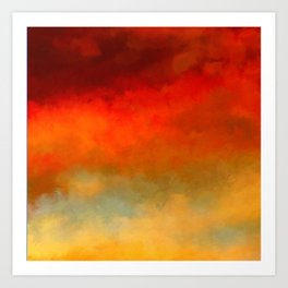 The Colors of Sunset Digital Painting Art Print