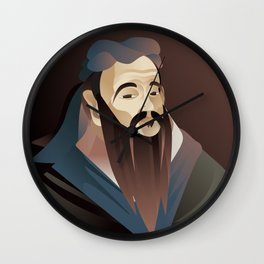 ancient china wise philosopher thinker Wall Clock