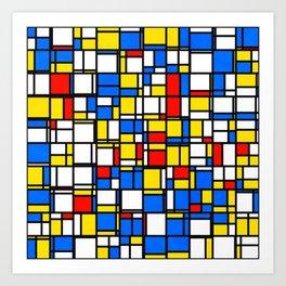 Mondrian Style 2 Art Print