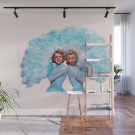 Sisters - White Christmas - Watercolor Wall Mural